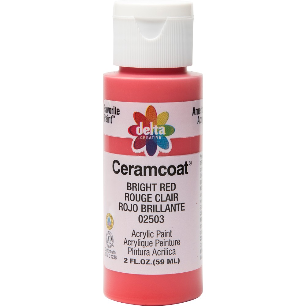 2 fl oz Acrylic Craft Paint Bright Red - Delta Ceramcoat