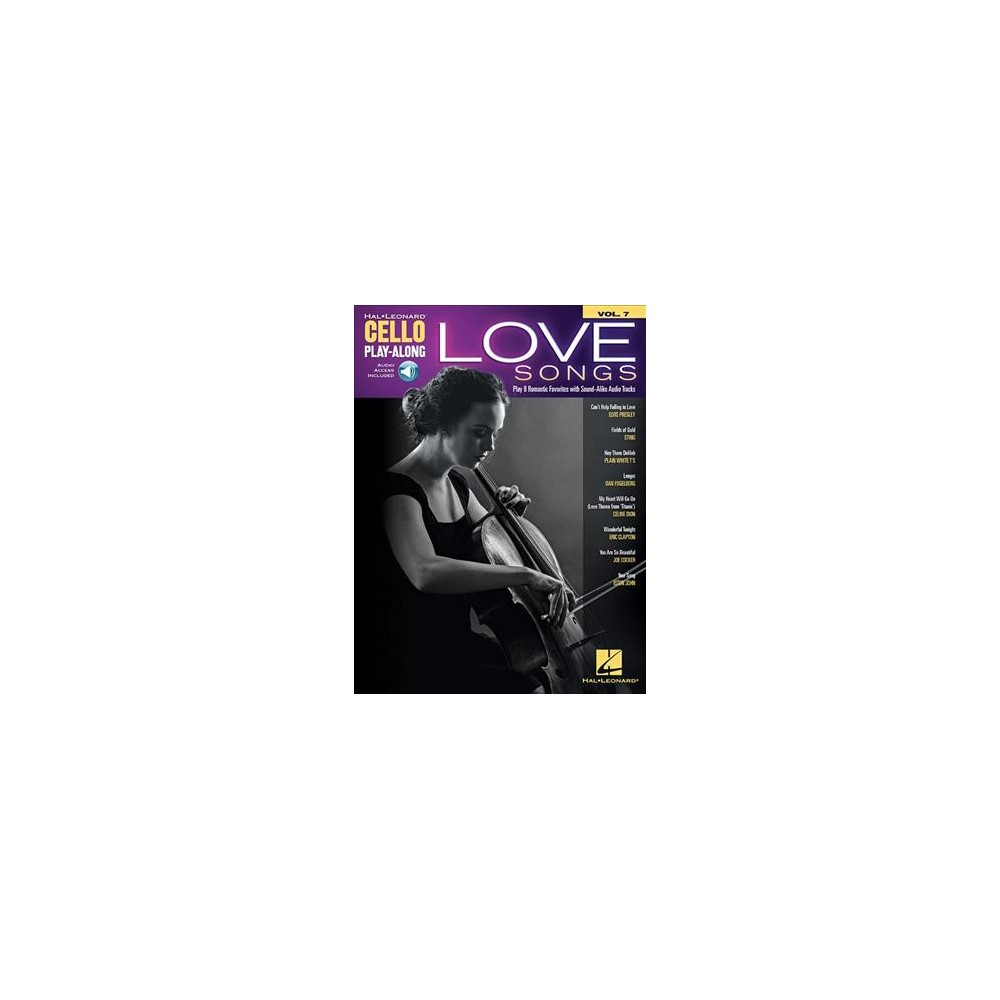 Love Songs - (Hal Leonard Cello Play-Along) (Paperback)