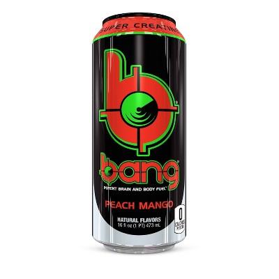 BANG Peach Mango Energy Drink - 16 fl oz Can