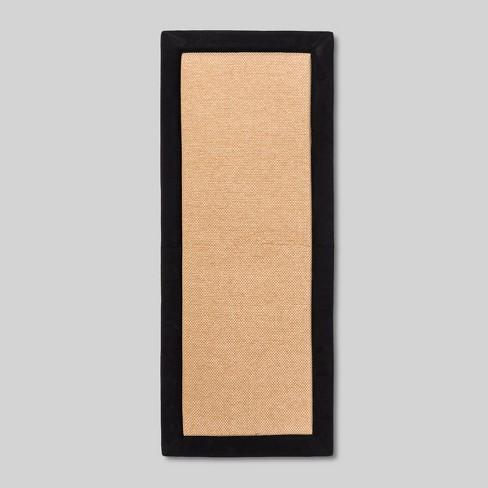 20 X28 Border Memory Foam Kitchen Floor Mat Black Threshold Target