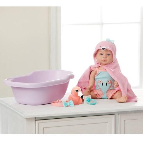"Madame Alexander 14"" Small Wonders Sweet & Happy Baby Bath Set - image 1 of 4"