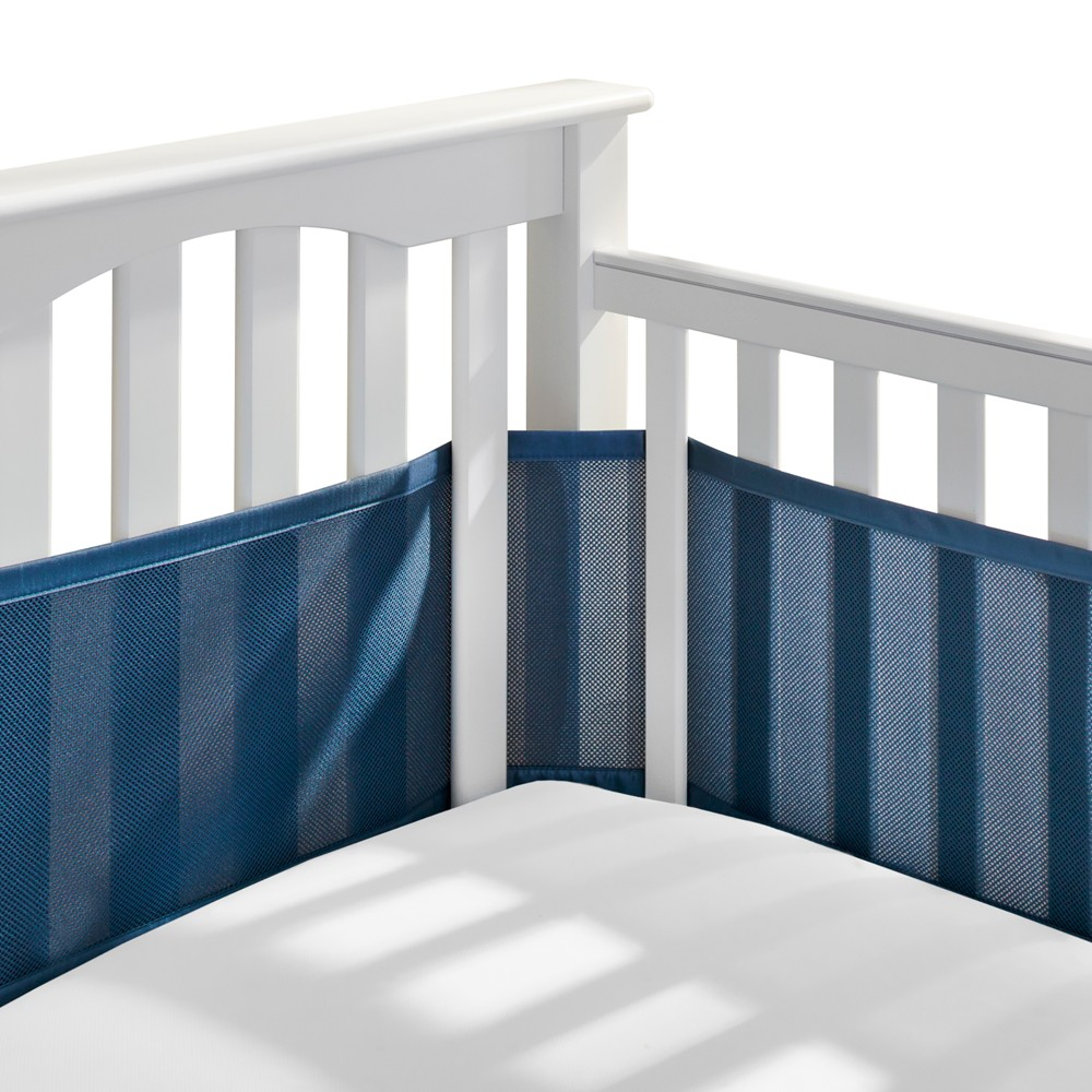 BreathableBaby Mesh Crib Liner - Navy (Blue)