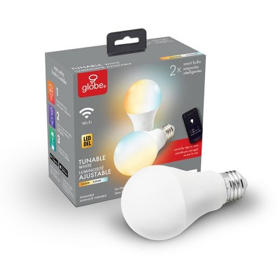 Smart 2pk 60W Equivalent LED Wi-Fi Enabled Voice Activated A19 E26 Light Bulb