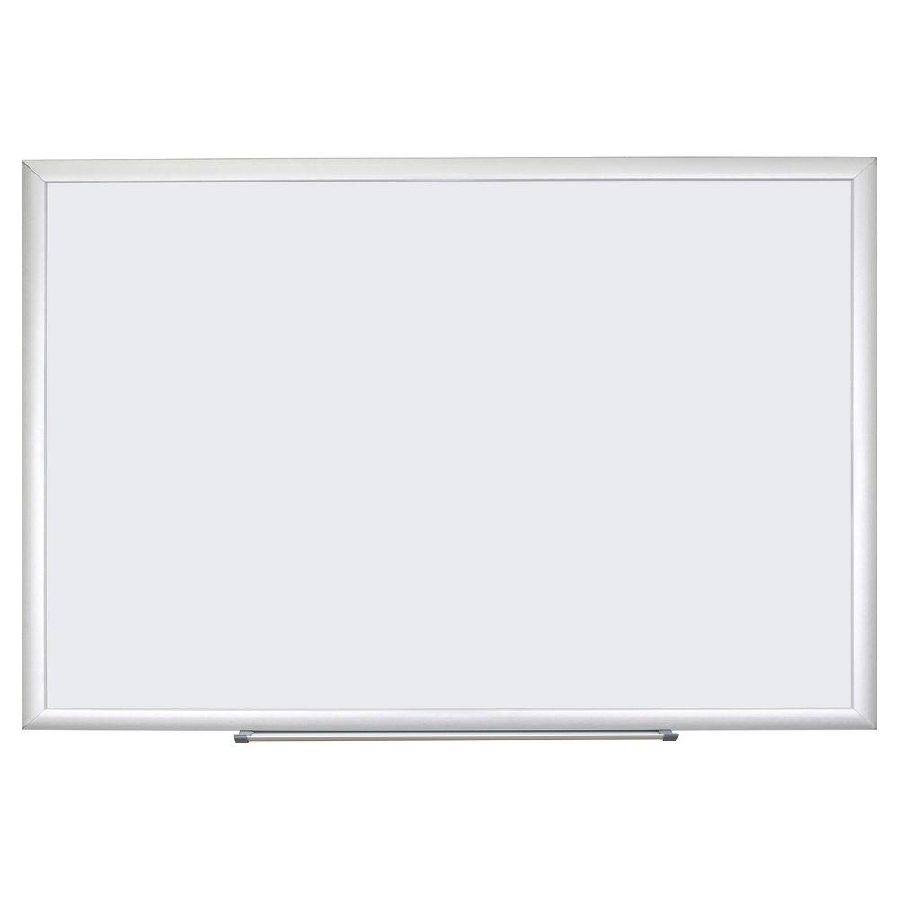 U Brands Dry Erase Board, 70 x 47 - Aluminum Frame, White/Silver