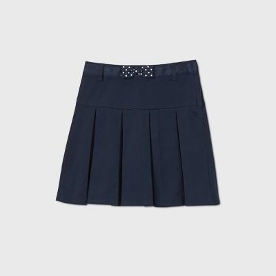 Girls' Stretch Uniform Twill Skorts - Cat & Jack™ Navy