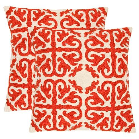 Orange Sunburst Moroccan Throw Pillows