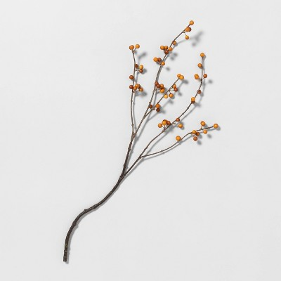"26"" Faux Orange Berry Stem - Hearth & Hand™ with Magnolia"