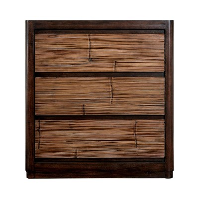 Veronica 3 Drawer Nightstand Antique Brown - HOMES: Inside + Out