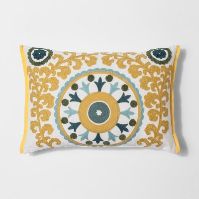 White Medallion Lumbar Throw Pillow - Threshold™