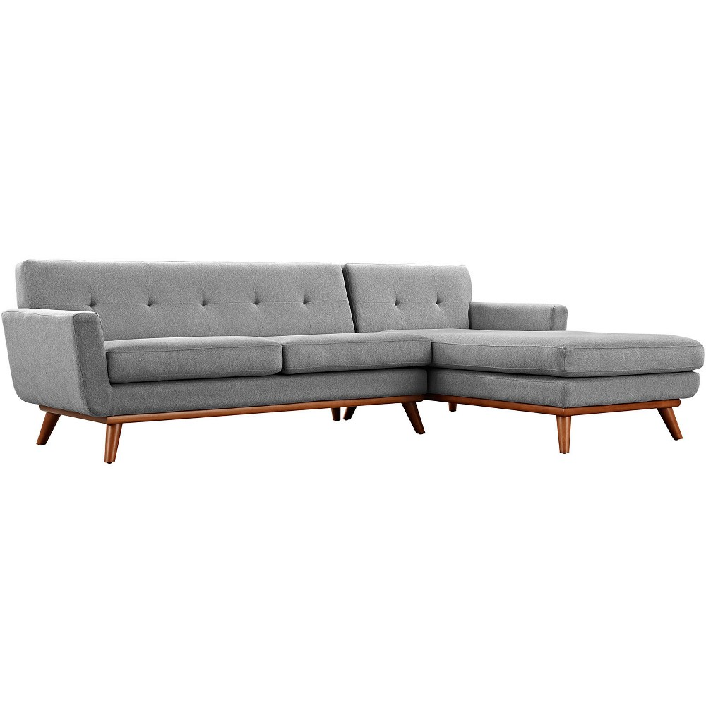 Engage Rightfacing Sectional Sofa Expectation Gray Modway