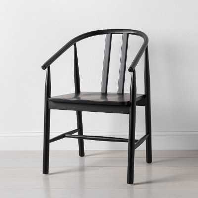 Sculpted Wood Dining Chair Black - Hearth & Hand™ with Magnolia