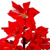 Northlight 4' Prelit Artificial Christmas Tree Fiber Optic Color Changing Red Poinsettia - image 4 of 4