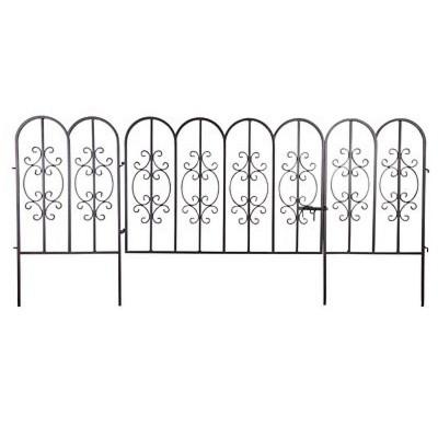 Montebello Iron Garden Fencing with Gate