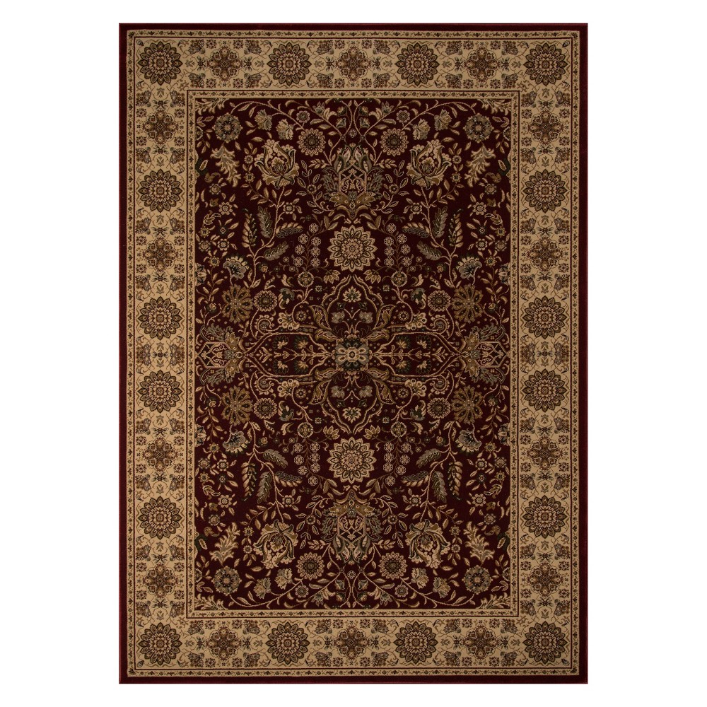 2'X3'3 Floral Loomed Accent Rug Red - Momeni