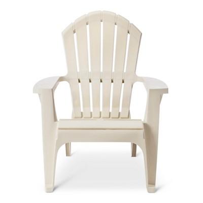 RealComfort Resin Outdoor Adirondack Chair - Off White - Adams