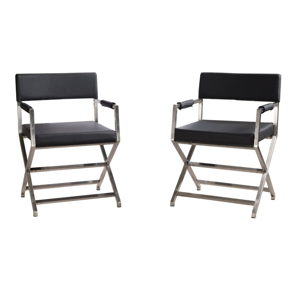 Vesper Arm Chair (Set of 2) - Black - Christopher Knight Home