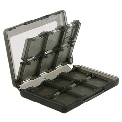 Insten 24-in-1 Game Card Case For Nintendo NEW 3DS / 3DS / DSi / DSi XL DSi LL / 3DS XL LL / DS / DS Lite NDS Game Storage Holder Smoke
