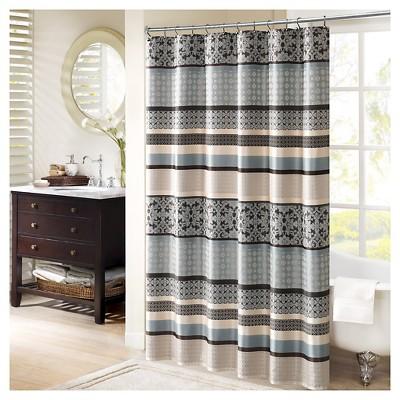 Mosaic Shower Curtain Blue