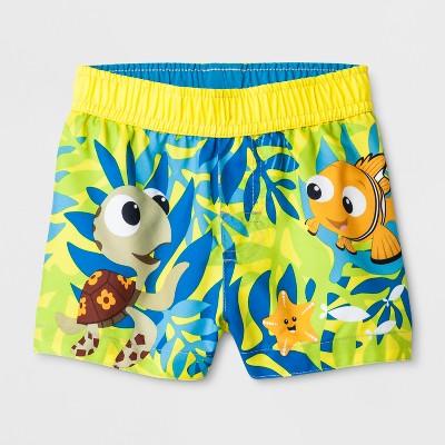 Baby Boys' Disney Finding Nemo Swim Trunks - Yellow 6-9M