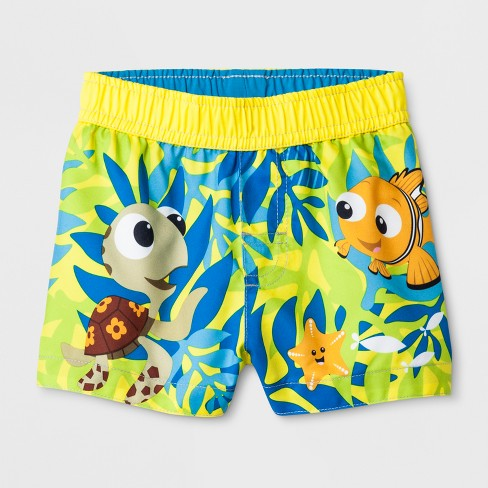 6620653a1b Baby Boys' Disney Finding Nemo Swim Trunks - Yellow : Target