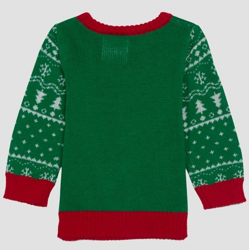 Baby Boys Dr Seuss Grinch Ugly Holiday Sweater Green Target