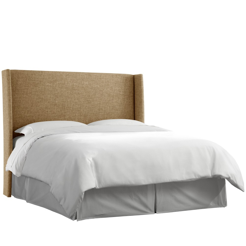 Twin Antwerp Upholstered Wingback Headboard Natural Linen - Project 62