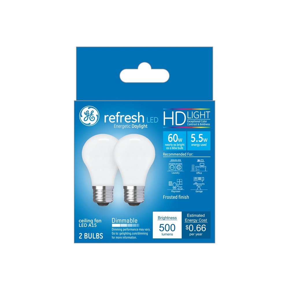 Ca Refresh Light Bulb Led 60W 2pk CF Frost