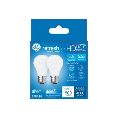 Ca Refresh Light Bulb LED 60W 2pk CF Frost - image 1 of 2