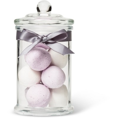 Tri-Coastal Design Lavender Glass Jar Bath Fizzers