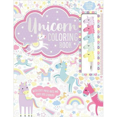 Unicorn Coloring Book - (Coloring Book with Stacking Crayon)by Make Believe  Ideas Ltd (Paperback)