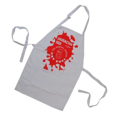 "Wild Eye 30.5"" Red and White Spicy 'Sriracha' Pepper Sauce Kitchen Apron"