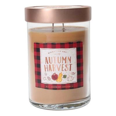 21oz X-Large Lidded Jar 2-Wick Candle Autumn Harvest - Signature Soy