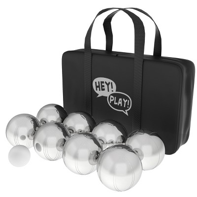 Toy Time Steel Tossing Balls Boules Set For Bocce With Carrying Case - 8 Pcs