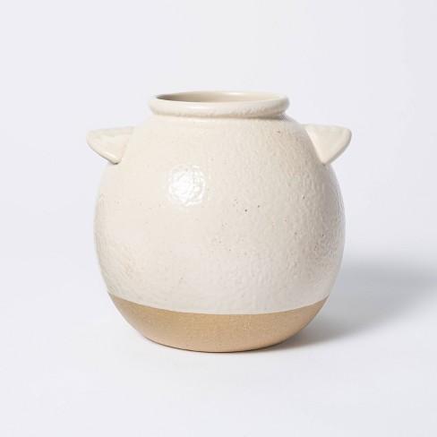 "6"" x 6"" Crock Stoneware Vase Beige - Threshold™ designed with Studio McGee - image 1 of 4"