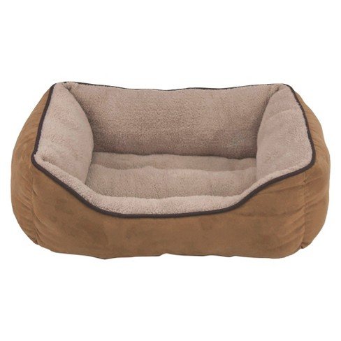 Dallas Manufacturing Co. Faux Suede Box Pet Bed - Caramel - image 1 of 1