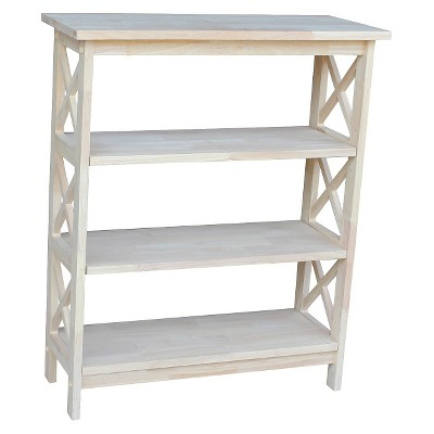 X-Sided Bookcase Unfinished - International Concepts