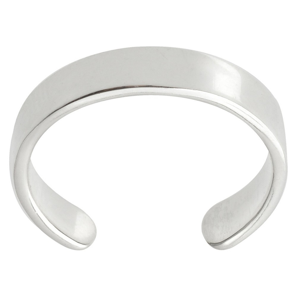 Women's Journee Collection Lustrous Toe Ring in Sterling Silver
