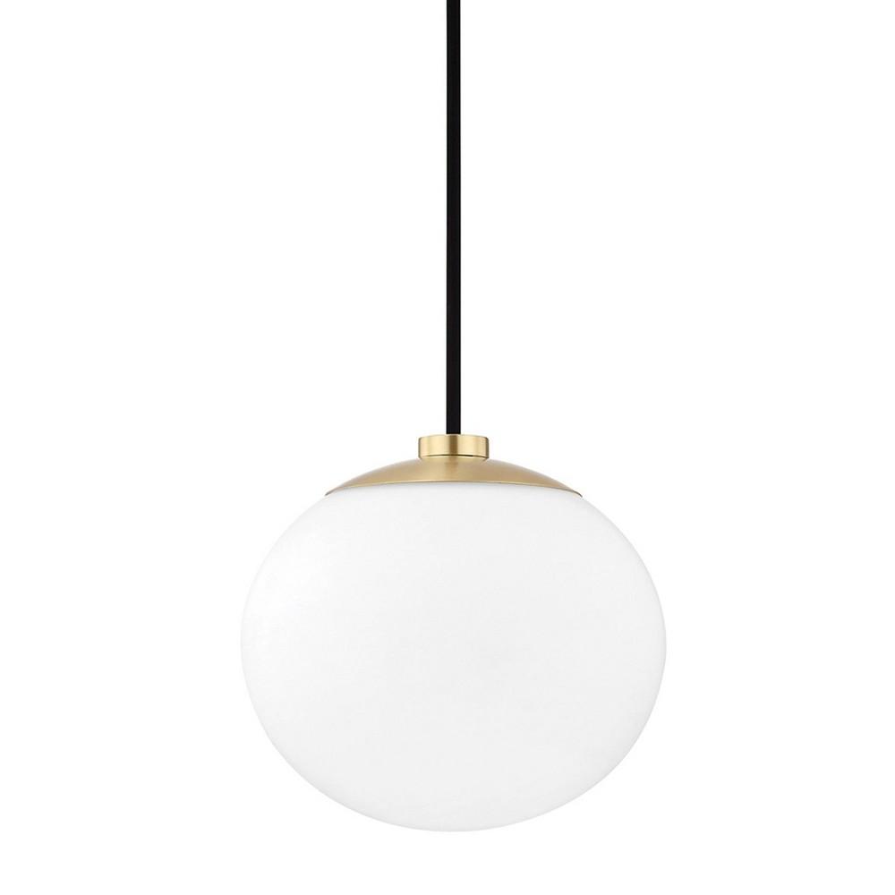 Estee 1-Light Pendant Chandelier Aged Brass - Mitzi by Hudson Valley Cheap