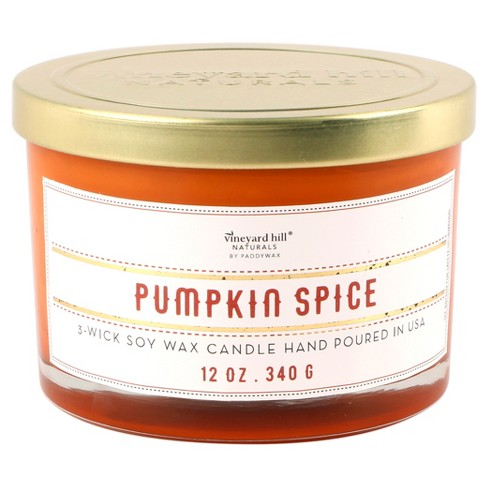 3-Wick Glass Candle Pumpkin Spice 12oz - Vineyard Hill Naturals by Paddywax - image 1 of 1
