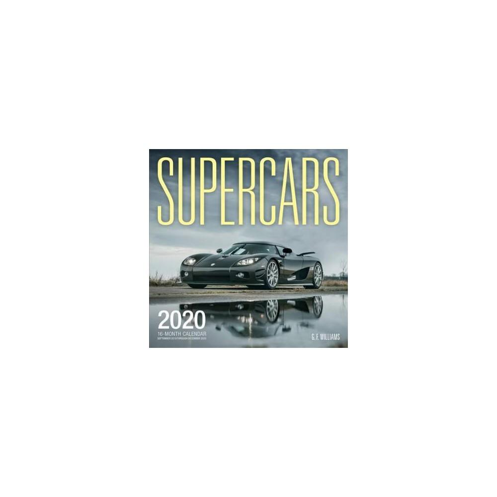 Supercars 2020 Calendar : Includes September 2019 Through December 2020 - (Paperback)