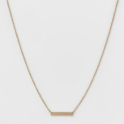 Square Tube Short Necklace   A New Day™ Gold by A New Day™