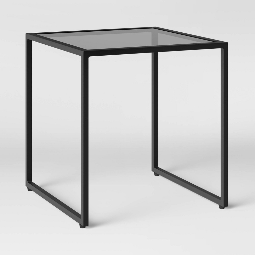 Black Glass Patio Accent Table Project 62 8482