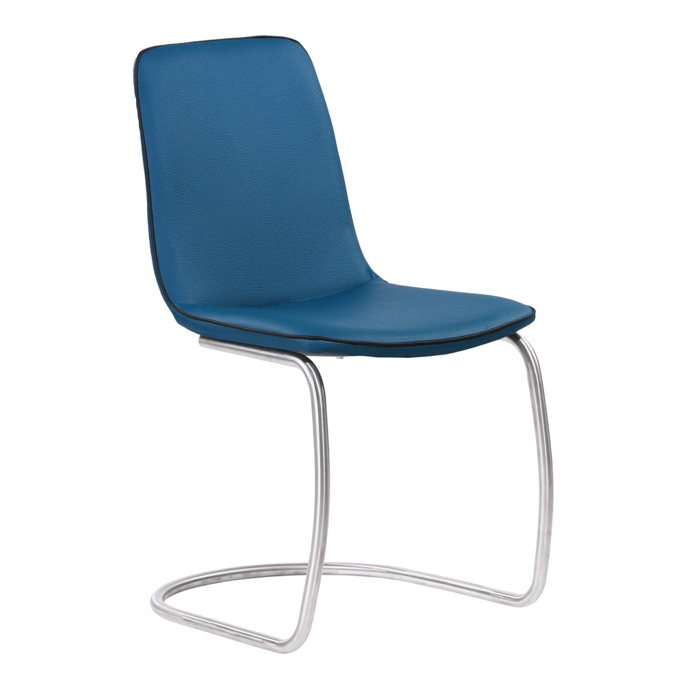 Armen Living Set of 2 Brittany Contemporary Dining Chair Blue