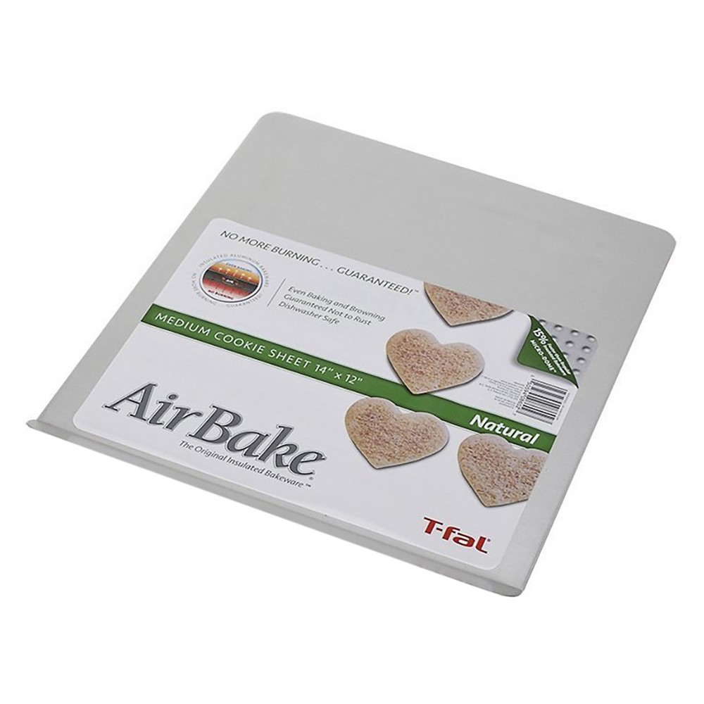 AirBake 14x12 in Natural Cookie Sheet, Light Silver