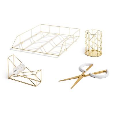 Desktop Set Gold - U Brands