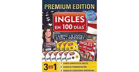 Ingles en 100 das / English in 100 days (Premium) (Mixed media product) by Aguilar - image 1 of 1