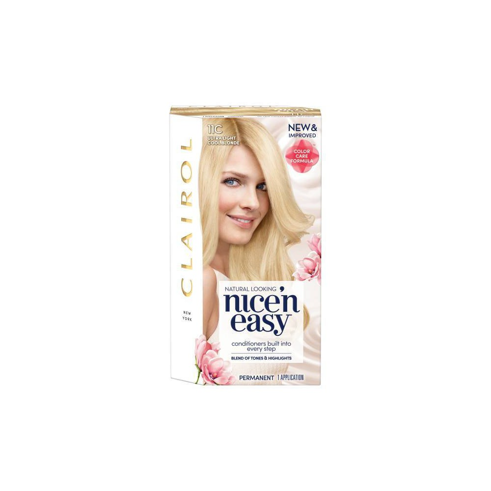 Image of Clairol Nice'N Easy Permanent Hair color - 11C Ultra Light Cool Blonde