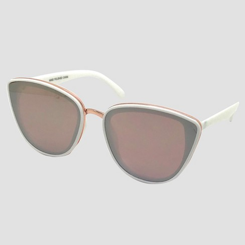 564076599d Women s Cateye Sunglasses - A New Day™ White   Target
