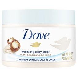 Dove Body Polish Macadamia & Rice Milk 10.5oz