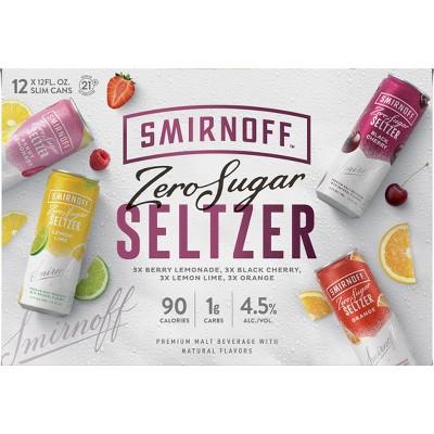 Smirnoff Spiked Sparkling Seltzer Variety Pack - 12pk/12 fl oz Slim Cans